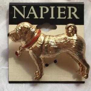 ->4for$25  Napier Dog Brooch NWT
